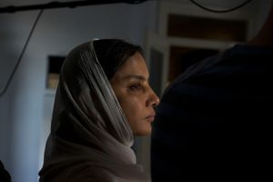 Shabana Azmi on the set of Outside  (Photo Courtesy of Sahil Lodha)